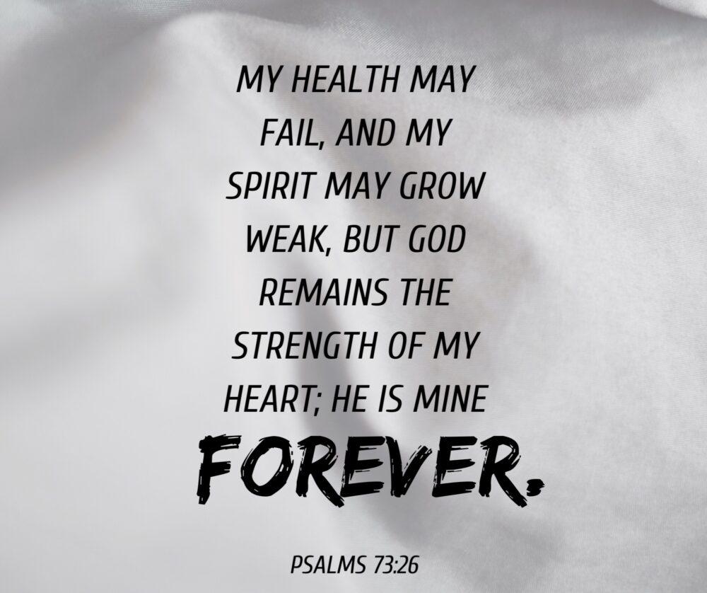 When health and spirit fail
